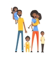 Big Family With Parents And Four KidsPart Of vector image