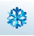 polygonal christmas snowflake vector image