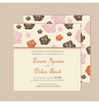 invitation card with roses vector image vector image