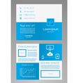Business brochure template - blue and white vector image