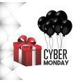 cyber monday offer with promotion gift vector image