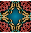 Seamless red yellow and green pattern vector image