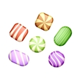 Sweets on white vector image
