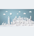 urban countryside landscape city village vector image