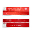 valentine day sale and gift voucher template with vector image