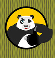 Panda thumb up and winks Chinese bear all good vector image