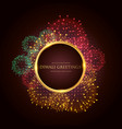 luxury diwali greeting festival banner poster vector image
