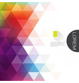 colorful transparency and fade triangle vector image