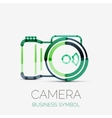 Camera icon company logo business symbol concept vector image