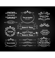 Chalkboard calligraphic frames page dividers vector image