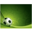 soccer background concept vector image vector image