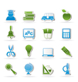 education and school icons vector image
