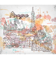 Prague doodles vector image