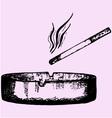 cigarette ashtray vector image