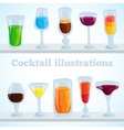 colorful coctail background concept vector image