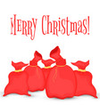 greeting card with a bag of santa claus vector image