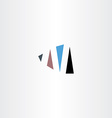 logo n letter n sign logotype symbol icon vector image
