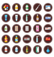 Medicament set of icons vector image
