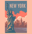new york retro poster vector image