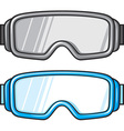 Ski Sport Goggles Icon Set vector image
