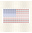 The American flag from lines against gold vector image