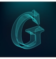 The letter G Polygonal letter Low poly model vector image