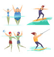 water sports design concept vector image