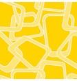 Yellow retro background vector image