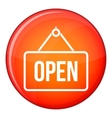 Sign open icon flat style vector image