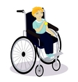 little boy with disabilities in a wheelchair have vector image vector image