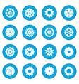 gear icon blue vector image