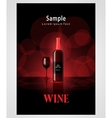 cover poster face wine red vine bokeh background vector image