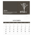 2014 calendar monthly calendar template for vector image