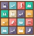 Set of flat icons for mobile app and web with long vector image vector image