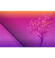 Yellow Purple Tree and dot background vector image