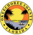 Okeechobee county seal vector image