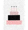 Birthday Cake Greeting Card Design vector image