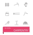 Carpenty icon set vector image