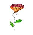 Decorative contrast flower vector image
