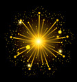 fireworks bursting in shape of star with yellow vector image
