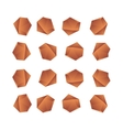 Stones in different angles gradients vector image
