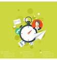 Stopwatch flat icon World time concept Business vector image