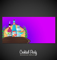 alcohol cocktails banner backdrop template vector image