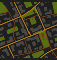 city map night view pattern vector image