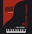 jazz music festival poster background vector image