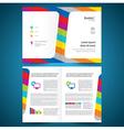 booklet catalog brochure folder colorful line vector image