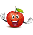 A smiling crunchy apple vector image