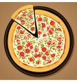 delicious pizza vector image vector image