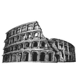 Colosseum logo design template Italy or vector image