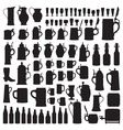 Beerware silhouettes vector image